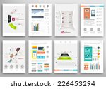 set of flyer  brochure design... | Shutterstock .eps vector #226453294