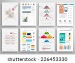 set of flyer  brochure design... | Shutterstock .eps vector #226453330