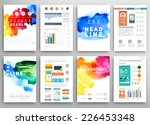 set of vector poster templates...