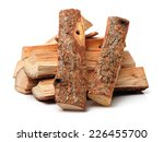pile of firewood isolated on a... | Shutterstock . vector #226455700