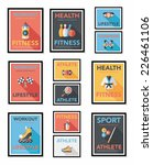 sport poster flat banner design ... | Shutterstock .eps vector #226461106