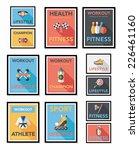 sport poster flat banner design ... | Shutterstock .eps vector #226461160