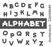 round font. vector alphabet... | Shutterstock .eps vector #226468684