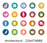 fruit and vegetable color icons | Shutterstock .eps vector #226474888
