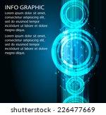dark blue light abstract...   Shutterstock .eps vector #226477669