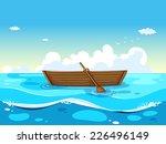 Illustration Of A Boat Floating ...
