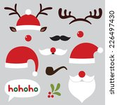christmas photo booth and... | Shutterstock .eps vector #226497430