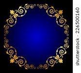 vector gold floral frame on... | Shutterstock .eps vector #226500160
