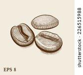 coffee beans. vector sketch | Shutterstock .eps vector #226515988
