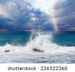 Waves Breaking On The Rocks...
