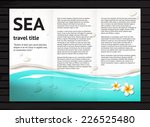 vector travel brochure design... | Shutterstock .eps vector #226525480