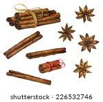 set of hand drawn watercolor...   Shutterstock . vector #226532746