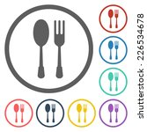 spoon fork icon | Shutterstock .eps vector #226534678