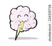 cartoon thundercloud | Shutterstock .eps vector #226535728