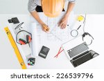architect sketching a... | Shutterstock . vector #226539796