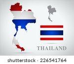 thailand world map in flag...