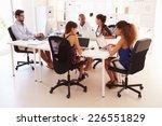 creative team working in office ... | Shutterstock . vector #226551829