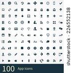 app icons vector set. | Shutterstock .eps vector #226552138