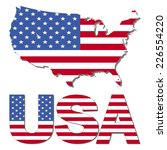 usa map flag and text... | Shutterstock . vector #226554220