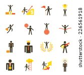 icons set   business man ... | Shutterstock .eps vector #226561918