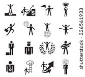b w icons set   business man ... | Shutterstock .eps vector #226561933