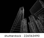 abstract city buildings sketch