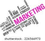 a word cloud of marketing...   Shutterstock .eps vector #226566973