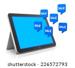 discount and tablet 3d | Shutterstock . vector #226572793