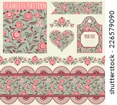 Seamless Pattern  Tags  Vintage ...