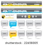 web navigation templates. vector   Shutterstock .eps vector #22658305