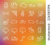 vector clean icons set for web... | Shutterstock .eps vector #226585396