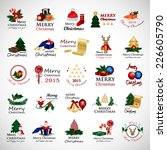 christmas icons and elements... | Shutterstock .eps vector #226605790