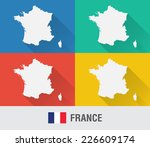 france world map in flat style...