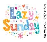 lazy sunday   Shutterstock .eps vector #226611634
