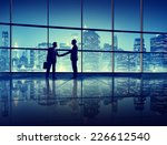 business people handshake... | Shutterstock . vector #226612540