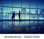 business people handshake... | Shutterstock . vector #226612540