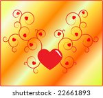 illustration on valentine's day | Shutterstock .eps vector #22661893