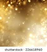 christmas gold background.... | Shutterstock . vector #226618960