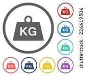 weight kilogram icon | Shutterstock .eps vector #226619506