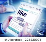like share friends favorite... | Shutterstock . vector #226620076