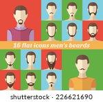 set of men's beards and... | Shutterstock .eps vector #226621690