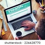 digital health insurance... | Shutterstock . vector #226628770