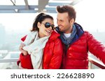 young couple together at... | Shutterstock . vector #226628890