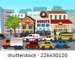 a vector illustration of busy... | Shutterstock .eps vector #226630120