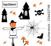 halloween icons | Shutterstock .eps vector #226632748