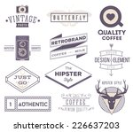 set of vector hipster modern... | Shutterstock .eps vector #226637203