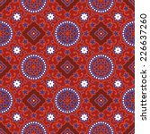 sindhi traditional blue   red... | Shutterstock .eps vector #226637260