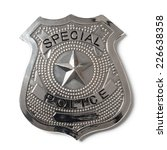 special police badge with... | Shutterstock . vector #226638358