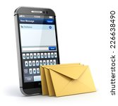mobile phone with short message ... | Shutterstock . vector #226638490