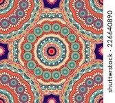 colorful ethnic ornamental...   Shutterstock .eps vector #226640890